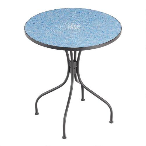 Coffee Table World Market Round Coffee Table Silas Outdoor: Peacoat Blue Cadiz Bistro Table