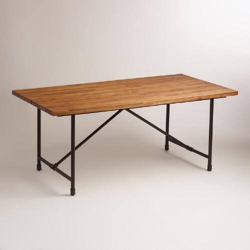 Wood and Metal Kairi Outdoor Dining Table