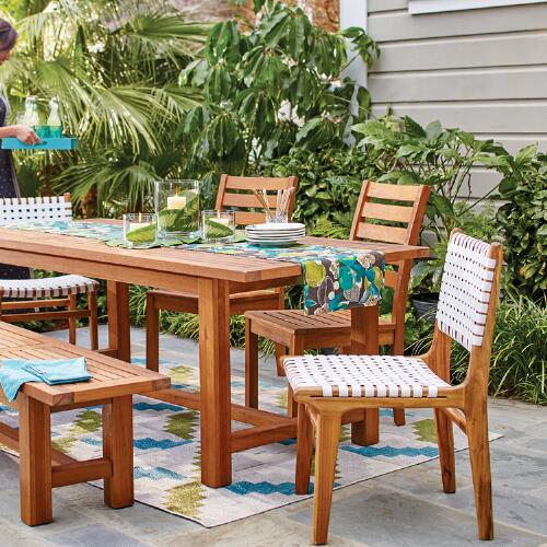 Wood Praiano Outdoor Dining Side Chair World Market