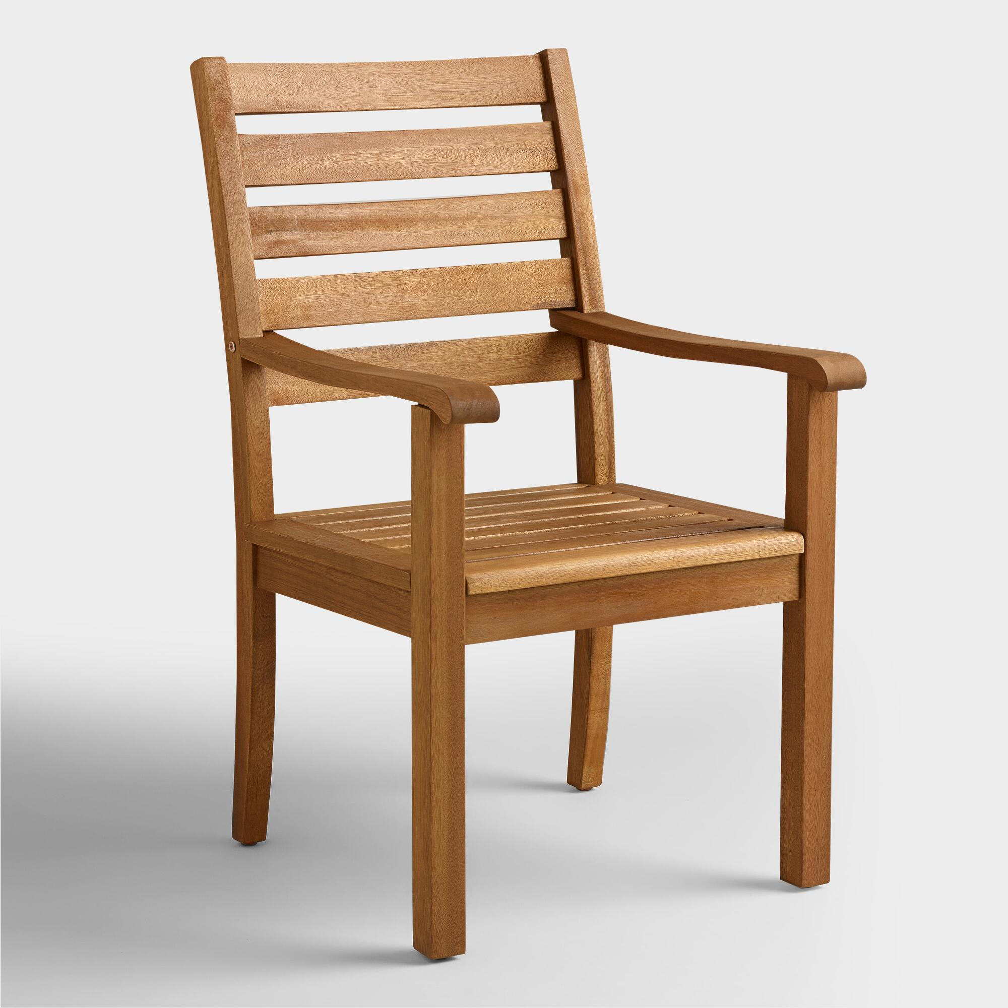 wood praiano outdoor dining armchair world market
