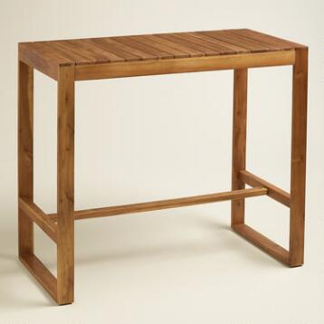 Wood Praiano Outdoor Bar Table