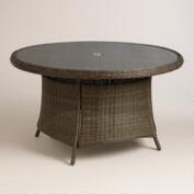 Round All-Weather Wicker Solano Outdoor Dining Table