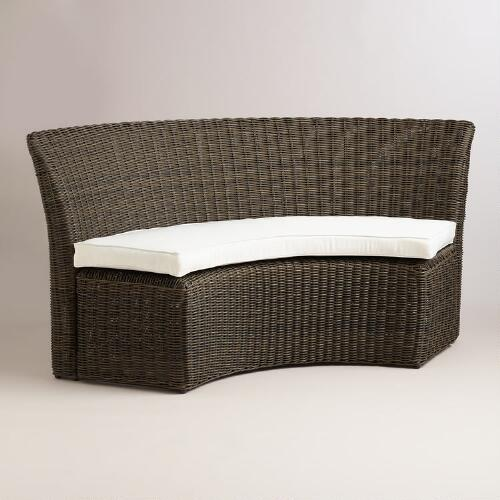 All-Weather Wicker Solano Outdoor Half Settee