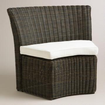 All-Weather Wicker Solano Outdoor Quarter Settee