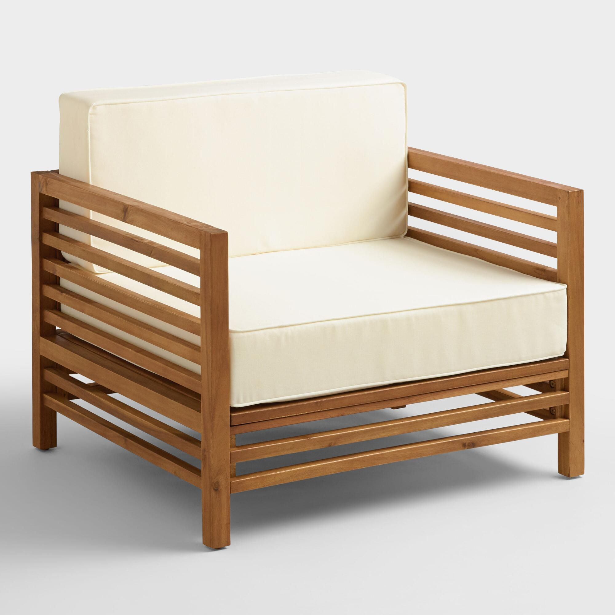 Wood praiano outdoor occasional chair world market for Occasional furniture