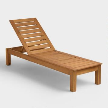 Wood Praiano Chaise Lounger
