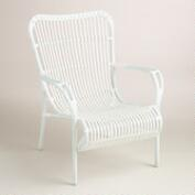 White All-Weather Wicker Hanalei Armchair