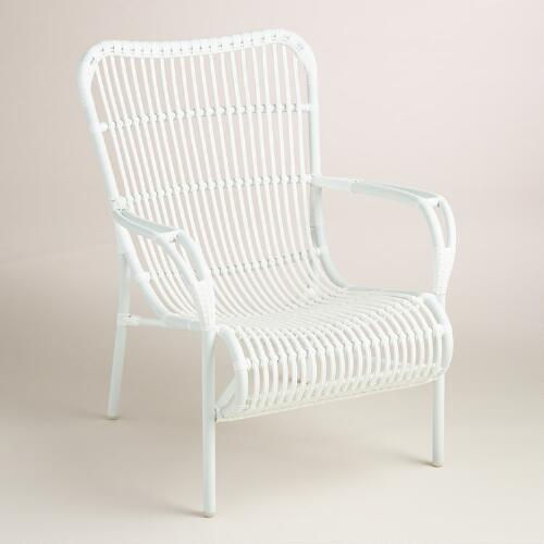 White All-Weather Wicker Hanalei Armchair, Set of 2