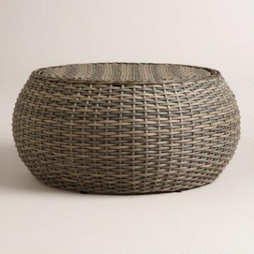 All-Weather Wicker Formentera Egg Coffee Table
