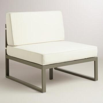 Metal Pelagia Armless Outdoor Occasional Chair