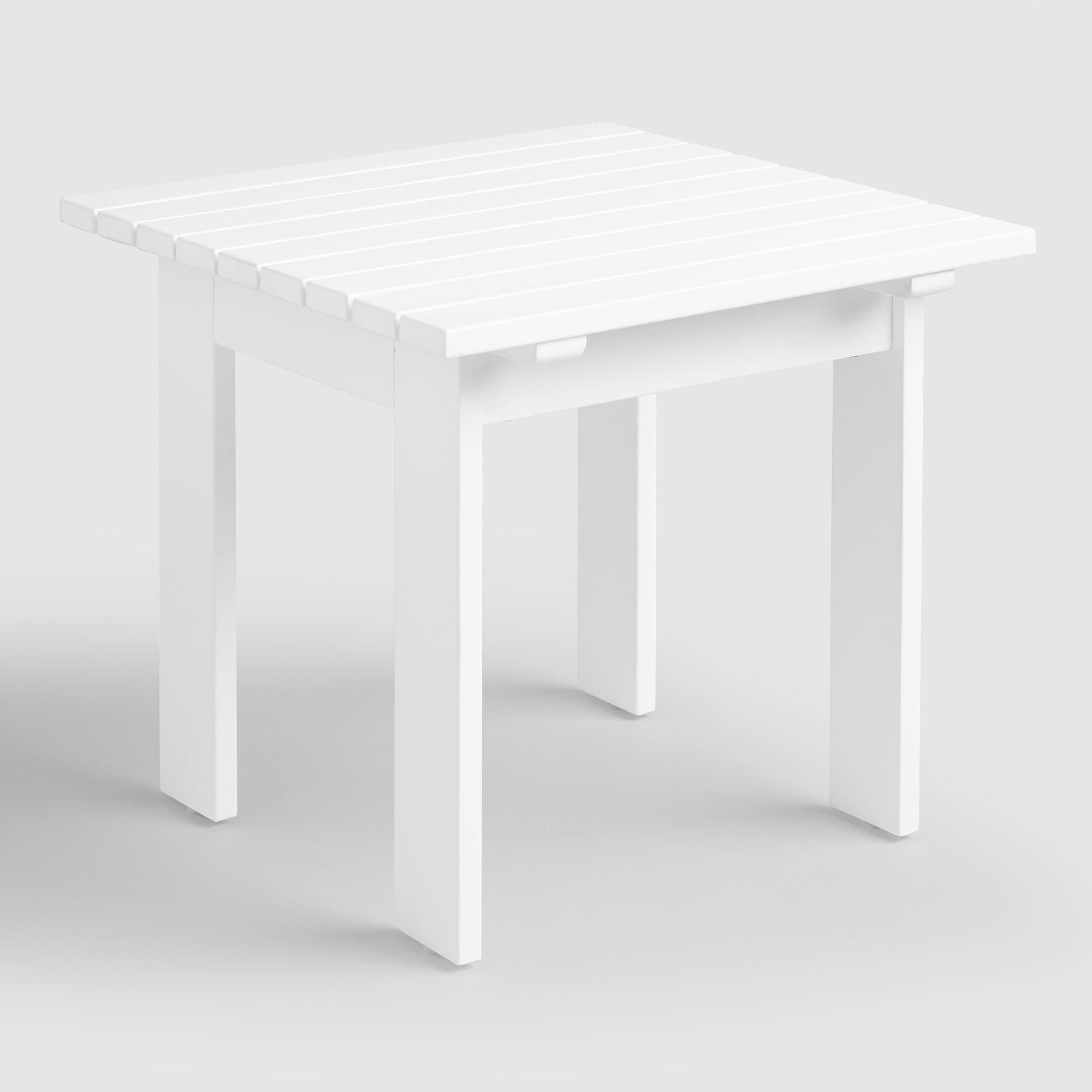 Round White Marble Milan Accent Table By World Market: Antique White Adirondack Side Table