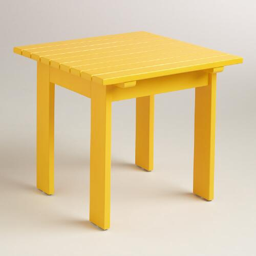 Golden Rod Adirondack Side Table