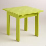 Apple Green Adirondack Side Table