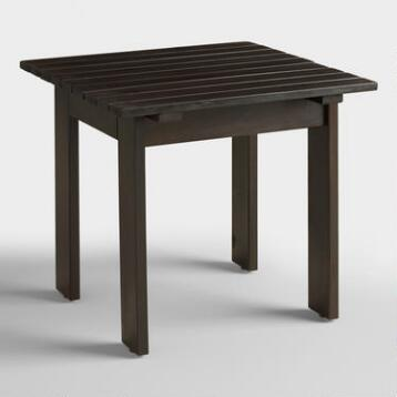 Espresso Adirondack Side Table