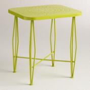 Apple Green Metal Alyssa Outdoor Hairpin Side Table