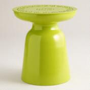 Apple Green Metal Dimitri Outdoor Stool