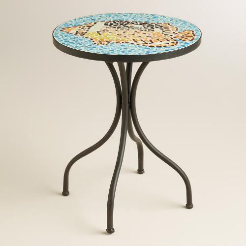 Fish Mosaic Cadiz Accent Table
