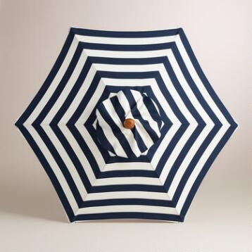 Cafe Stripe 5' Umbrella Canopy