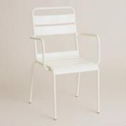 Antique White Metal Ronan Outdoor Bistro Chair