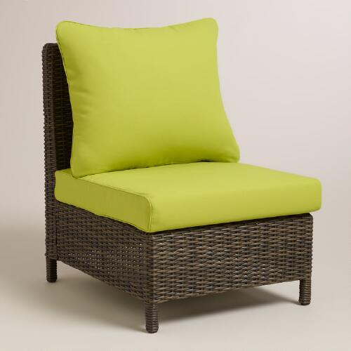 Apple Green Solano Sectional Armless Chair Slipcover