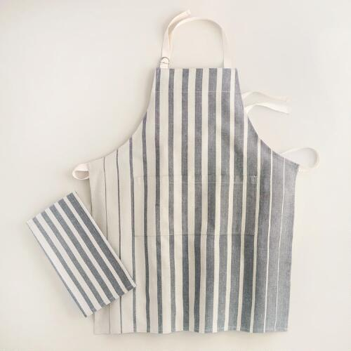 Gray Ombre Stripe Kitchen Linens Collection