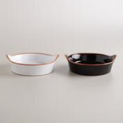 Stamped Terracotta Tapas Bowls, Set of 2