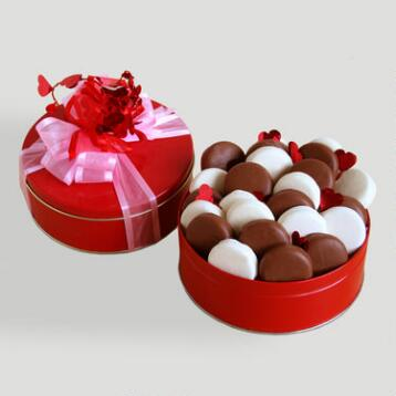 Chocolate-Covered Cookie Sandwiches Valentine Gift Basket
