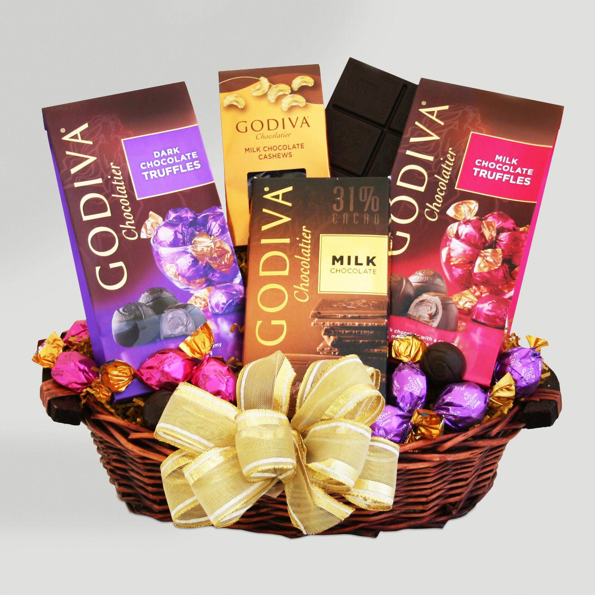 Chocolate Gift Baskets: Godiva Chocolate Sampler Valentine Gift Basket