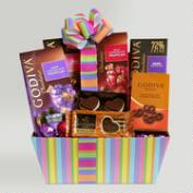 Godiva Chocolate Rainbow of Treats Valentine Gift Basket