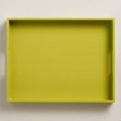 Apple Green Rectangular Lacquer Tray