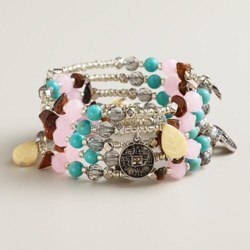Silver, Turquoise, Pink and Tiger