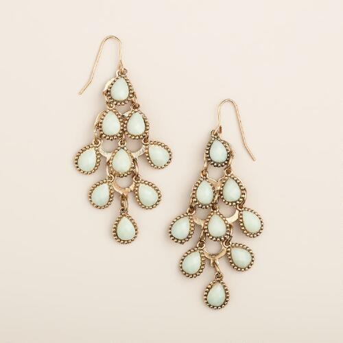 Mint Chandelier Earrings
