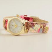 Soft Floral Fabric Watch