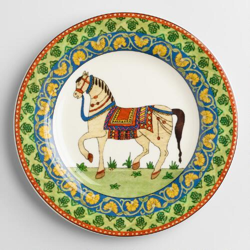 Voyage Horse Plates, Set of 4