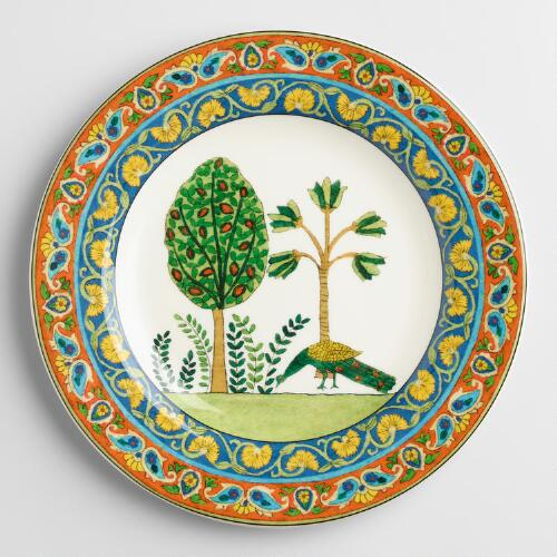 Voyage Peacock Plates, Set of 4