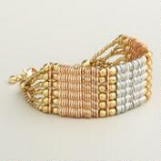 Gold Mixed Media Chain Bracelet