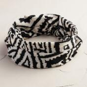 Wide Black and White Jersey Headband