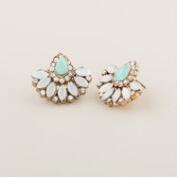 Pacific Opal Estate-Style Stud Earrings