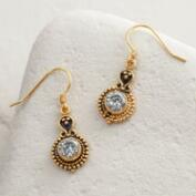 Gold Cubic Zirconia Drop Earrings