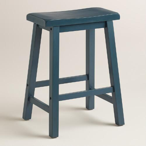 Navy Schoolhouse Counter Stool