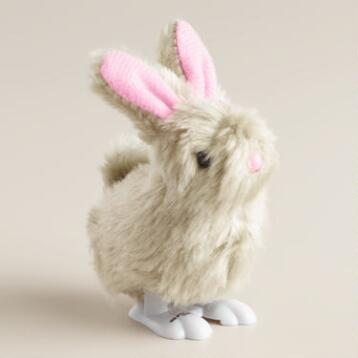 Gray Easter Bunny Wind-Up Toys, Set of 2