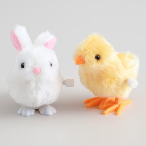 Easter Bunny and Chick Wind-Up Toys,  Set of 2