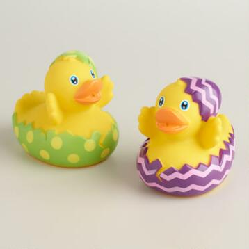 Hatching Easter Egg Rubber Duck Bath Toy