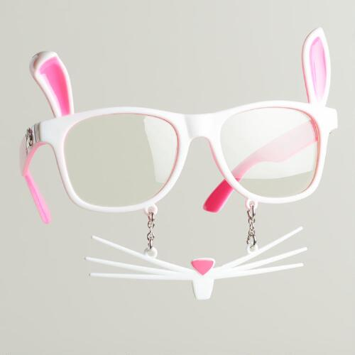 Bunny Novelty Glasses with Whiskers