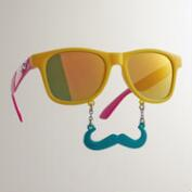 Tropical Sun-Stache Sunglasses, Set of 3