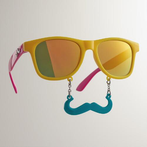 Tropical Sun-Stache Sunglasses