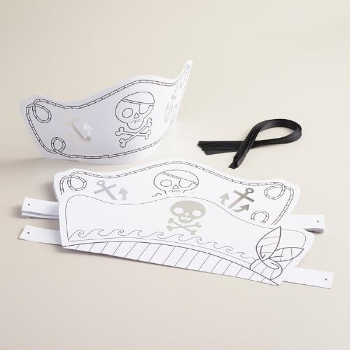 Color-In Pirate Hats, 8-Pack