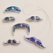Flash Stache Light-Up Mustaches, Set of 6