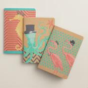 Sea Creature Journals, Set of 3