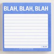 Blah, Blah, Blah Sticky Notepad